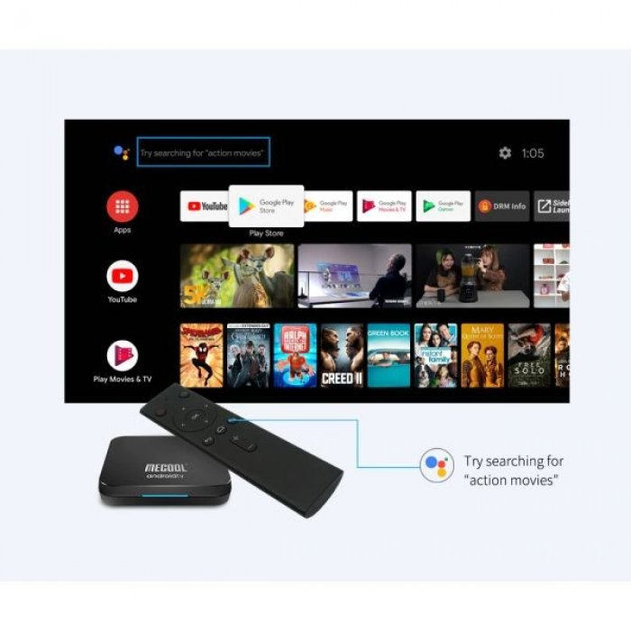 TV BOX ΧΩΡΙΣ Συνδρομές Για ΠΑΝΤΑ - Αθλητικά - Ταινίες - Σειρές - TV - Ντοκιμαντέρ - Παιδικά - Παιχνίδια, MECOOL KM9 PRO Deluxe Google Certified Android 9.0 Pie with Bluetooth Voice Remote Control