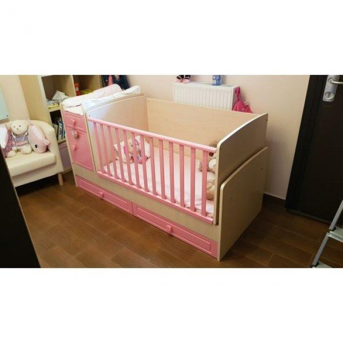 Παιδικό Κρεβάτι 3 σε 1 με στρωμα