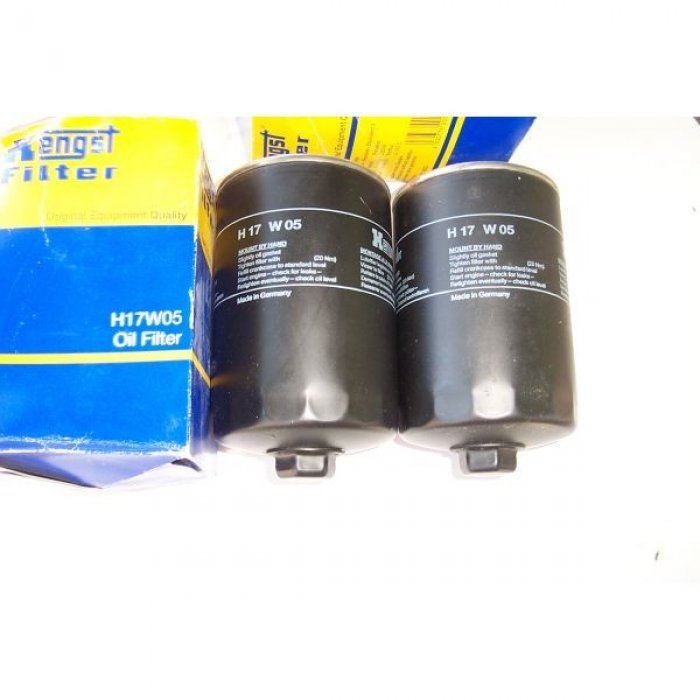 HENGST H17 W05 - 2 ΦΙΛΤΡΑ ΛΑΔΙΟΥ - OIL FILTER - DIESEL - AUDI VW SEAT VOLVO - T3 LT GOLF VENTO POLO CADDY JETTA ILTIS
